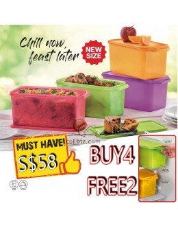 Colourful Fridge Cool Stacker Set (Buy4Free2): Keeper 3.1L (Food storage Tapao Foods)