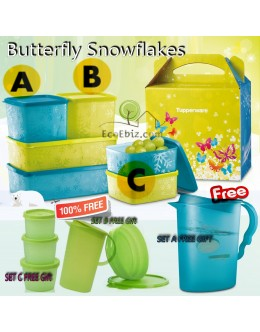 Snowflakes Butterfly SET