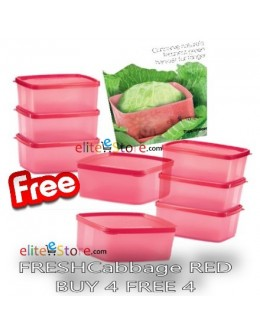 Square Round FRESHCabbage RED 400ml: BUY 4 FREE 4