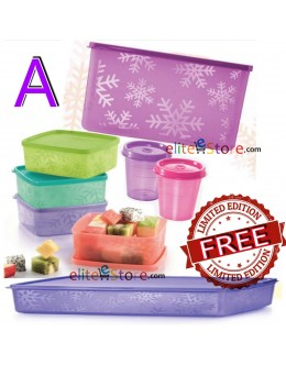 Square Round COLOURFUL 7in1 Set A PURPLE [FREE Limited Edition Snowflakes 1.25L]