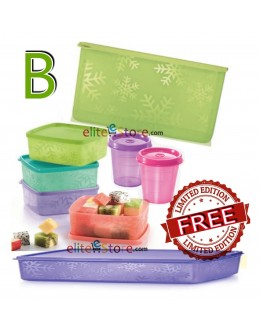 Square Round COLOURFUL 7in1 Set B GREEN [FREE Limited Edition Snowflakes 1.25L]