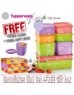 Square Round Snowflakes 8in1 Gift Set *FREE Cubix & GIFT BOX
