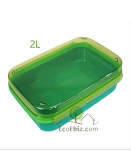 Flip Top Rectangular GreeneryJungle 2L