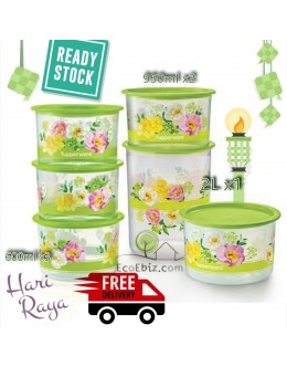 Raya One Touch 6in1 Set: 600mlx3 + 950mlx2 +2L