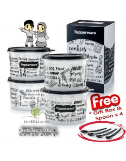 Classic BlackNWhite Topper 4in1 Set *FREE Spoons x4 & Gift Box