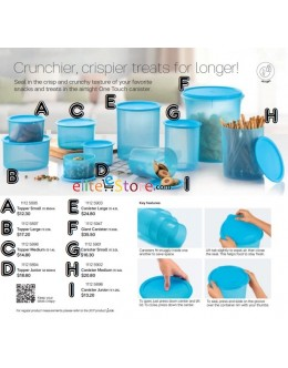 One Touch Canister Topper Set [BLUE] 9 Sizes