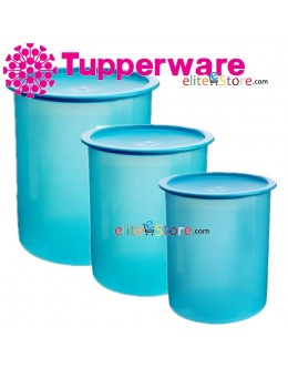 One Touch Canister / Topper Set BLUE [1.25L 2L 3L]