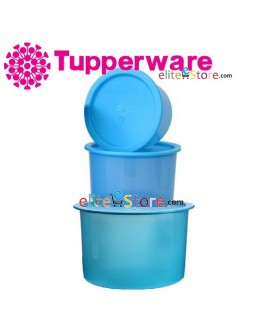 One Touch Canister / Topper Set BLUE [600ml 950ml 1.4L]
