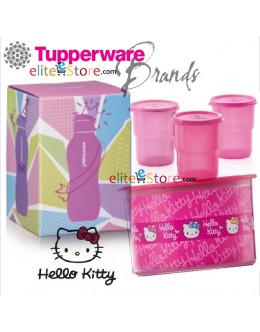 Hello Kitty 4in1 GIFT BOX SET [Topper 1.4L + Tumbler 225ml x3]