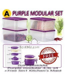 Modular Purple 4.3L x4  +Free 5in1 Kitchen's Maid