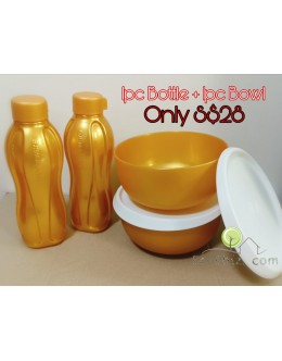 GOLDEN 2in1 Set: Bottle x1 + Bowl x1