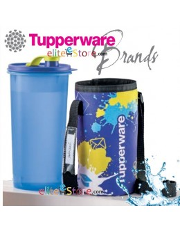 Tumbler with Pouch 1.5L [BLUE Painting] High Handolier