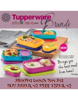 Lunch Box SlimFlat Lunch Box Set [BUY 560ML x2 FREE 120ML x2]