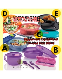 Microwaveable Lunch box CrystalWave Divided Dish 900ml [ALL]