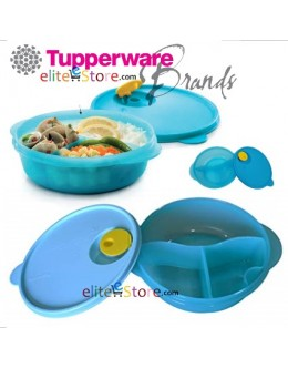 Microwaveable Lunch box CrystalWave Divided Dish 900ml [BLUE]