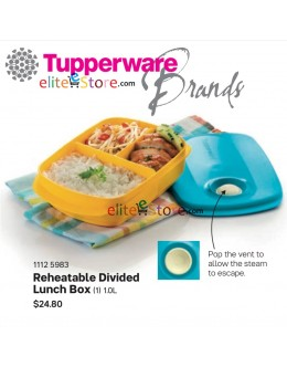 Microwaveable Lunch Box Reheatable Divided 1.0L [BlueYellow]