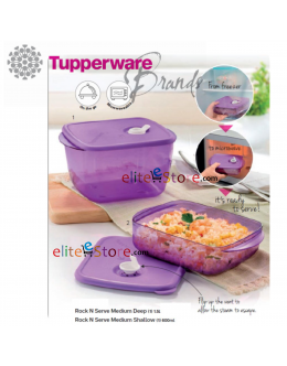 Microwaveable Lunch Box Freezer Rock N Serve 600ml+ 1.5L [PURPLE]