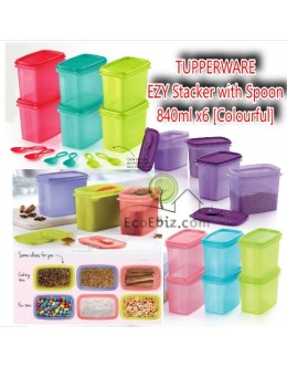 Shelf Saver EZY Stacker with Spoon 840ml [Colourful]