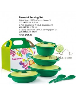 Green Emerald Serving Gift Box Set