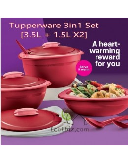 Royal Red Serving 3in1 Set *FREE Laddles