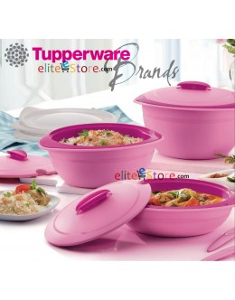 PINKY GERBERA Insulated Server with Spoon 1.5L / 2.5L / 3.5L *2Layers Keep Warm * Microwaveable