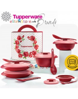 Royal Red Serving Set Newest 4in1 Set with Gift Box * FREE Sambal Dish