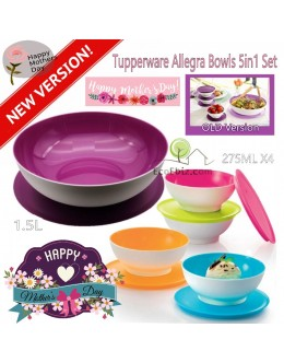 Allegra Bowls 5in1 Set: 1.5L + 275ml x4