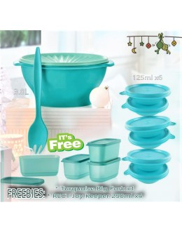 Turquoise 7in1 Set: 1Big Bowl with seal and 6 Mini Bowls [RAYA FREEBIES]