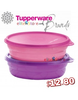EzyRound Lunch Box 500ML 2in1 Set [PinkPur]