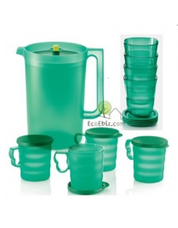 RAYA CrystalTurquoise Giant Pitcher 4.2L / Short Glass / Mug