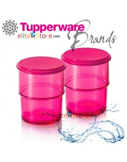 Elegant Tumbler with lid 250ml x2 [PinkPur]