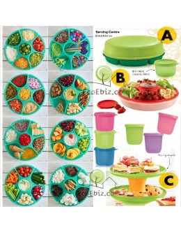8Bao Round Serving Container [PEACHRed / ECOGreen] +FREE Handy Round Container 380ml