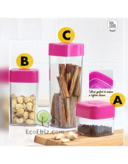 Crystal Square Canister [3 Sizes]