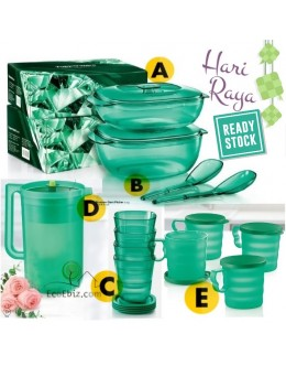 RAYA CrystalTurquoise Server / laddle / Short Glass / Pitcher / Mug
